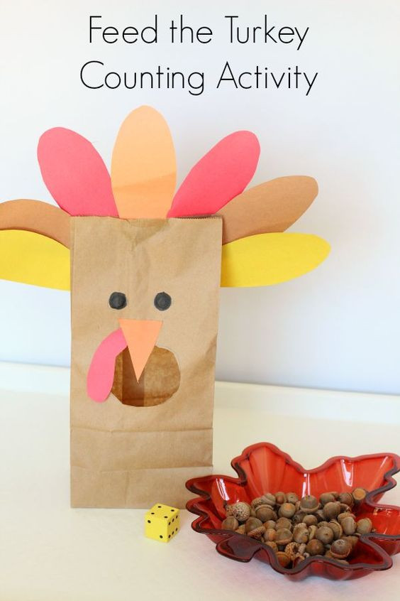A Turkey For Thanksgiving Activity  Feed the Turkey Counting Activity