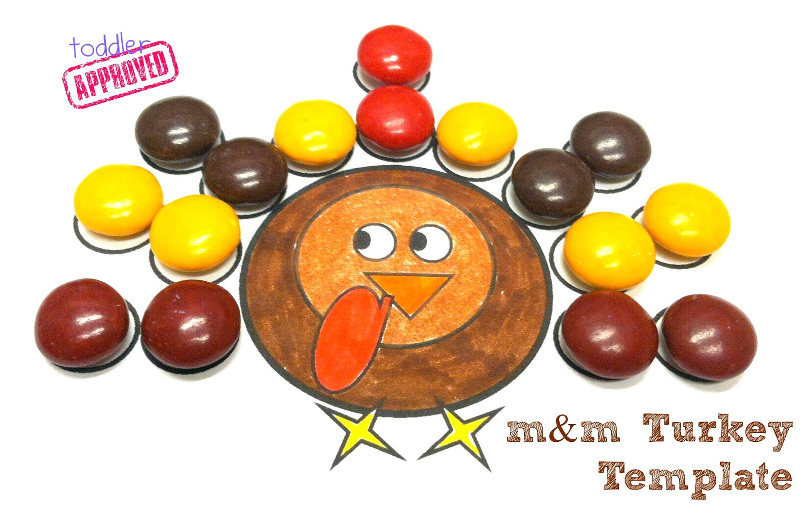 A Turkey For Thanksgiving Activity  Toddler Approved Thanksgiving Activities M&M Turkey