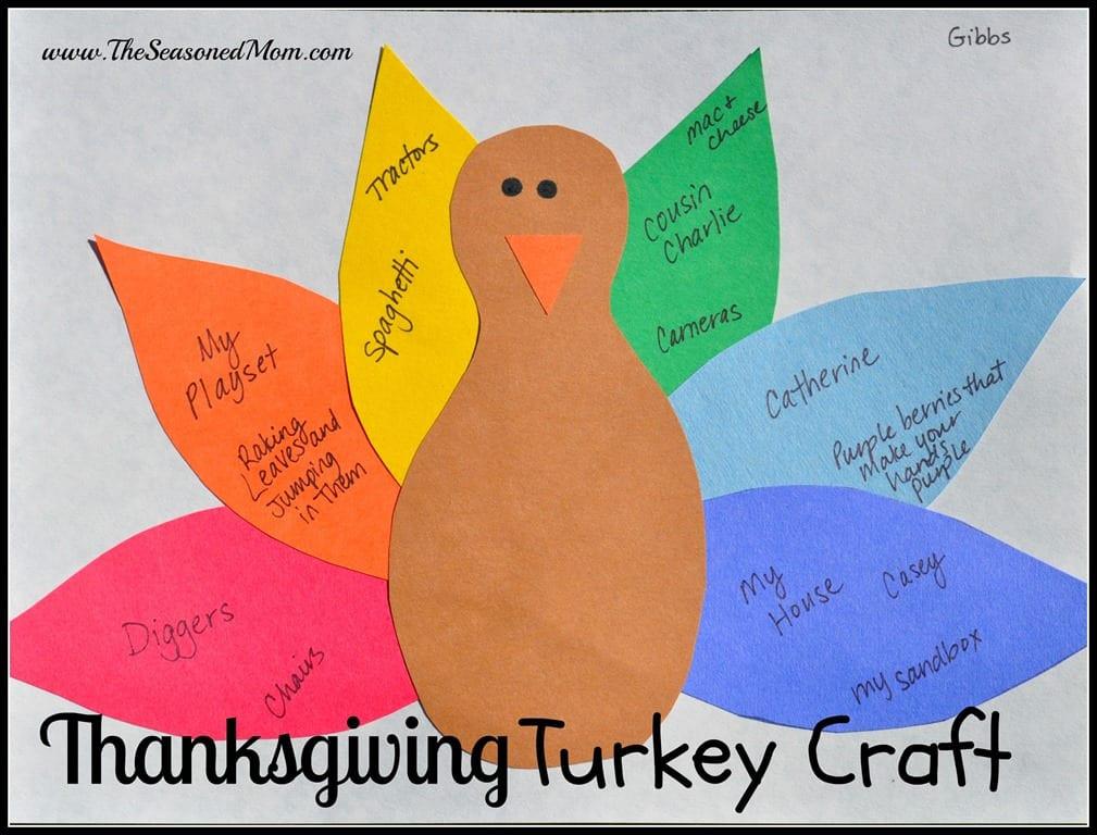 A Turkey For Thanksgiving Activity  Thanksgiving Turkey Craft The Seasoned Mom