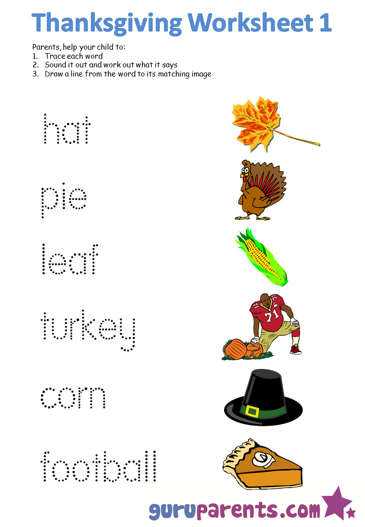 A Turkey For Thanksgiving Activity  Worksheets for Preschool