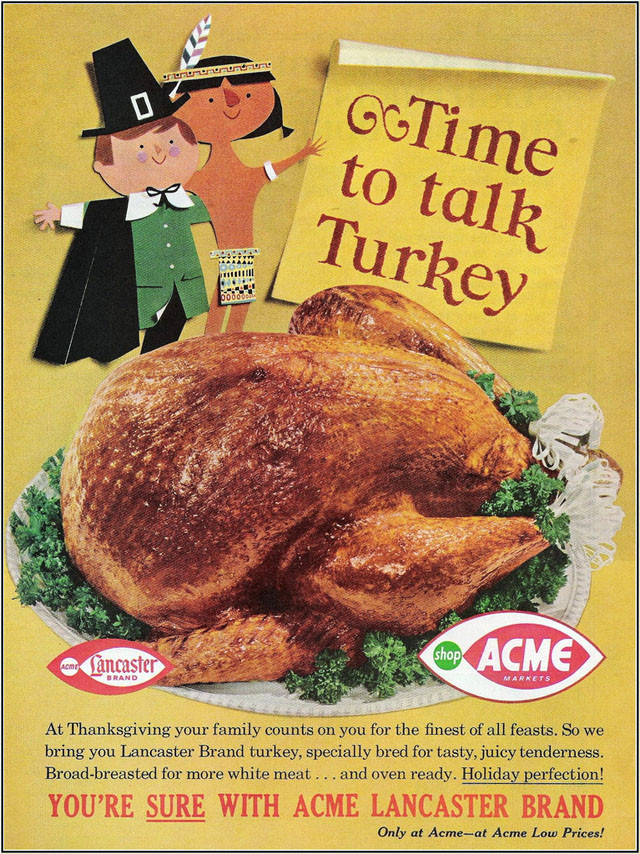 Acme Thanksgiving Turkey Dinner  Retrotisements Thanksgiving Dinner Edition