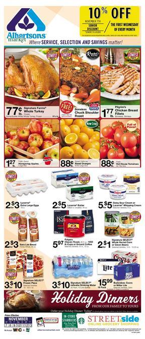 Albertsons Thanksgiving Dinner 2019  Albertsons Weekly Ad Deals Nov 7 13 2018