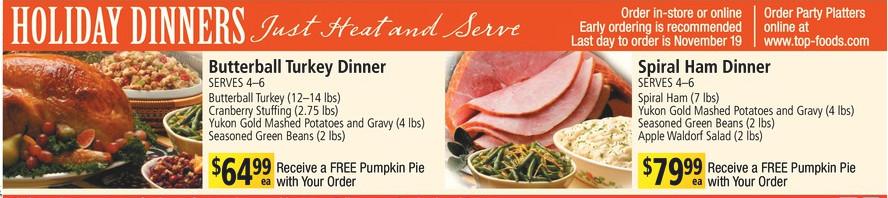 Albertsons Thanksgiving Dinner  safeway christmas turkey dinner