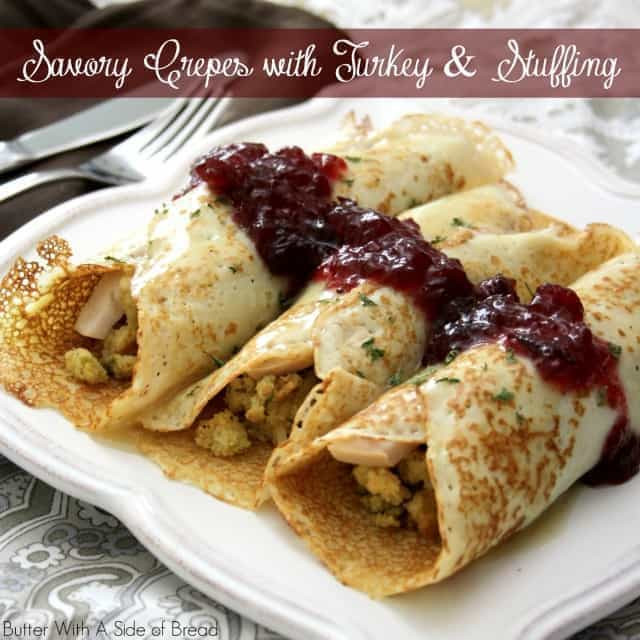 Albertsons Thanksgiving Dinner  SAVORY CREPES with THANKSGIVING TURKEY & STUFFING Butter