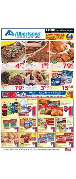 Albertsons Thanksgiving Dinners Prepared  Alicias Deals in AZ – Search Results – Grocery ad