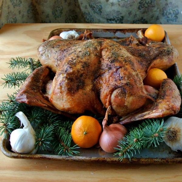 Alton Brown Thanksgiving Turkey  Alton Brown s Butterflied Dry Brined Turkey