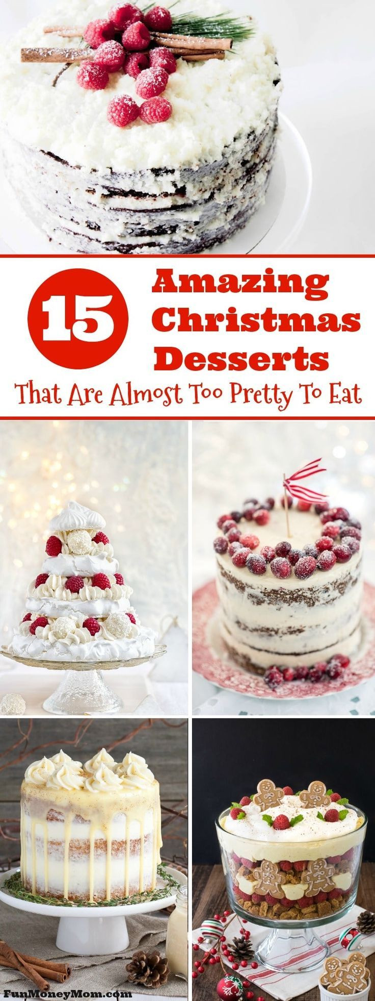 Amazing Christmas Desserts  1418 best Christmas images on Pinterest