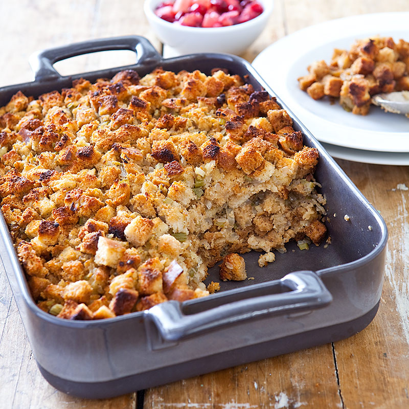 American Test Kitchen Thanksgiving Turkey  Back to Basics Bread Stuffing