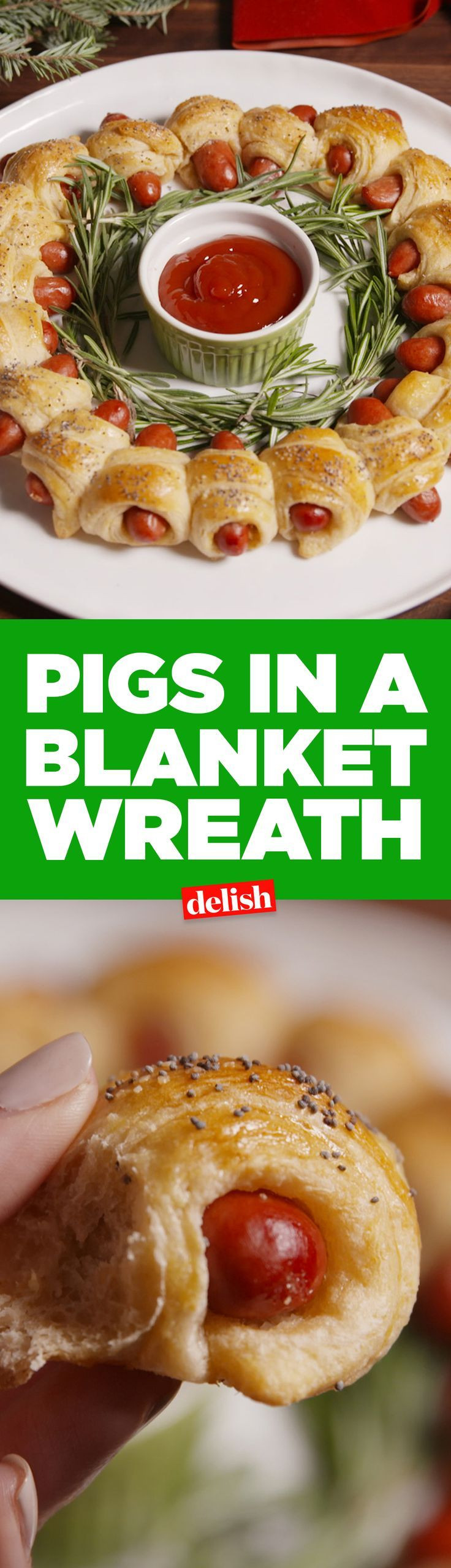 Appetizers For Christmas Eve Party  Pigs In A Blanket Wreath Recipe