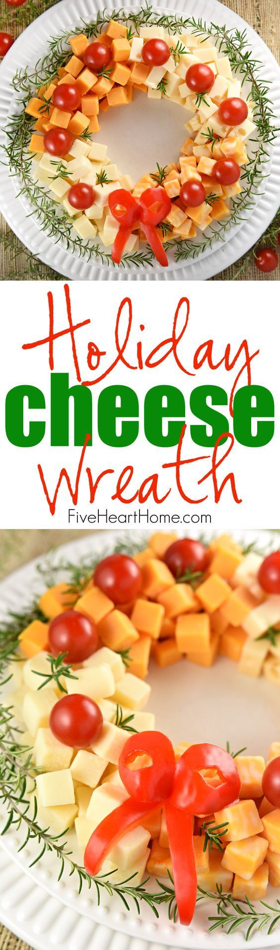 Appetizers For Christmas Eve Party  Holiday Cheese Wreath Recipe