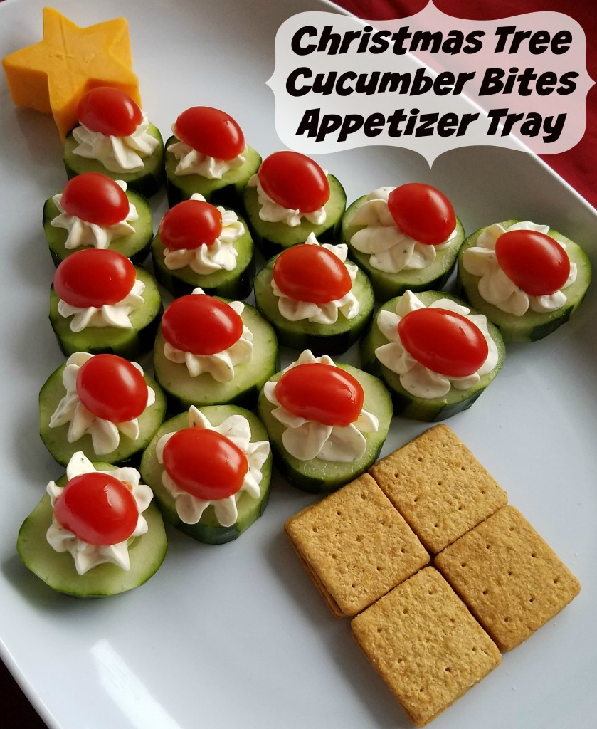 Appetizers For Christmas  Cucumber Bites Christmas Tree Appetizer Tray Making Time