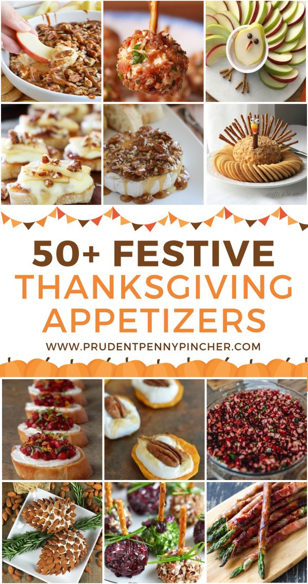 Appetizers For Thanksgiving Dinner  50 Festive Thanksgiving Appetizers Prudent Penny Pincher