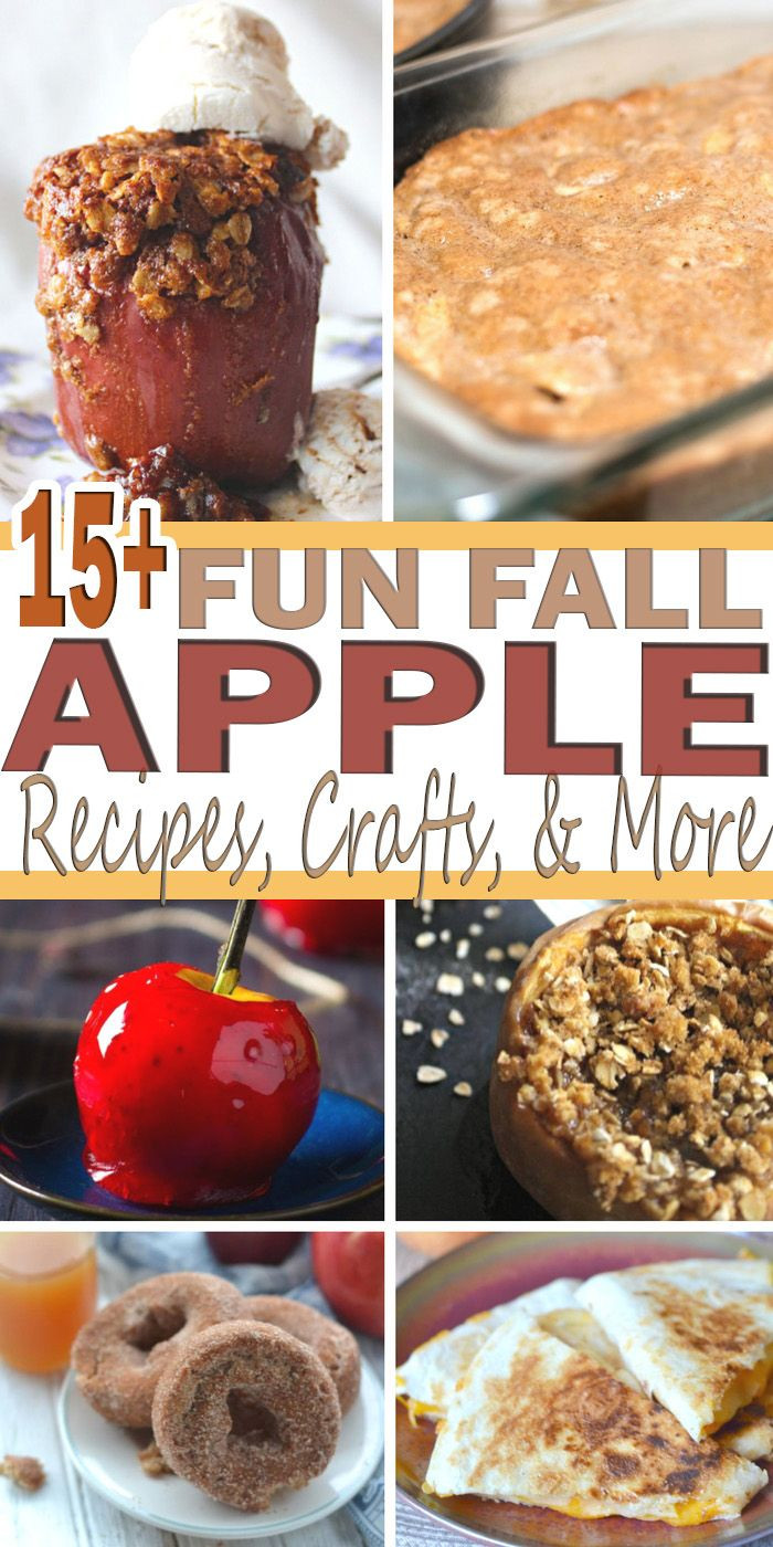 Apple Recipes For Fall  Fun Fall Apple Round Up Best Pins For Moms