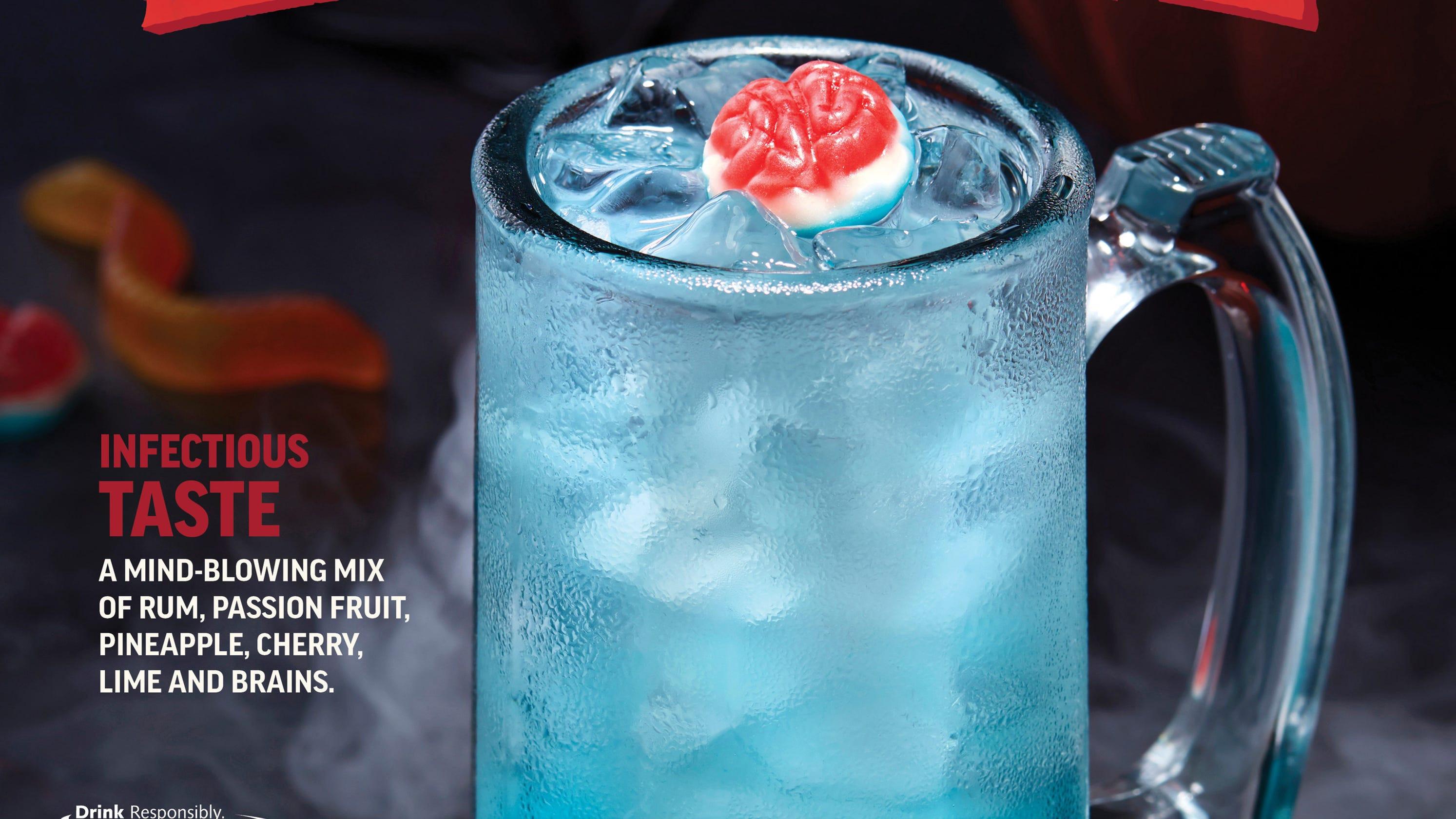 Applebees Halloween Drinks  Applebee s Dollar Zombie drink is a Halloween treat with a