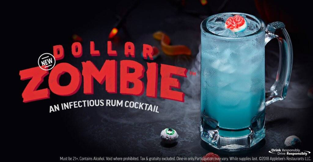 Applebees Halloween Drinks  Applebee s $1 Zombie Drinks Are Here Just in Time for