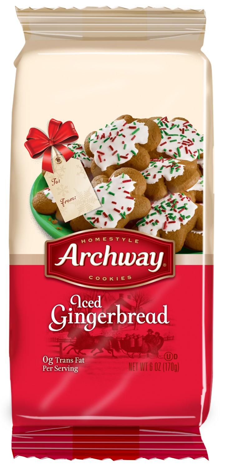 Archway Christmas Cookies  Archway Homestyle Cookies Iced Gingerbread 6 Oz