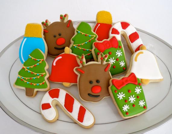 Assorted Christmas Cookies  Items similar to Assorted Christmas Cookies Reindeer