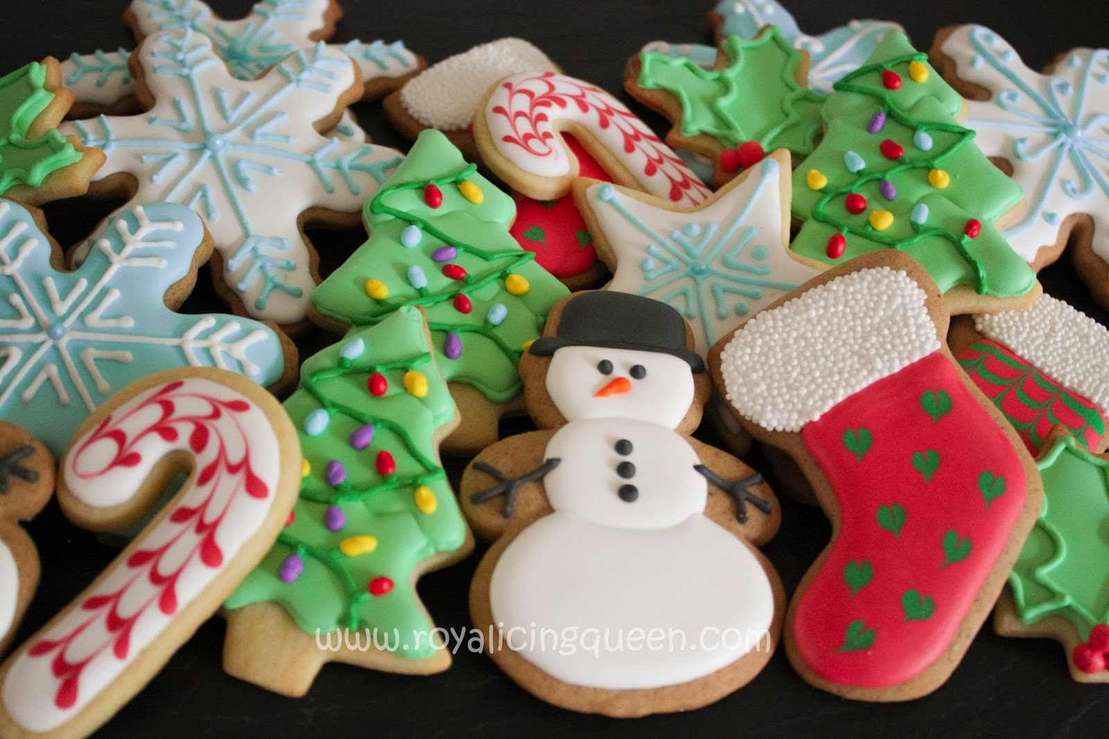 Assorted Christmas Cookies  The Royal Icing Queen More Assorted Christmas Cookies