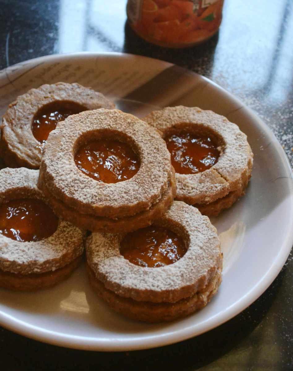 Austrian Christmas Cookies  Eggless Linzer Cookies – Austrian Christmas Cookies