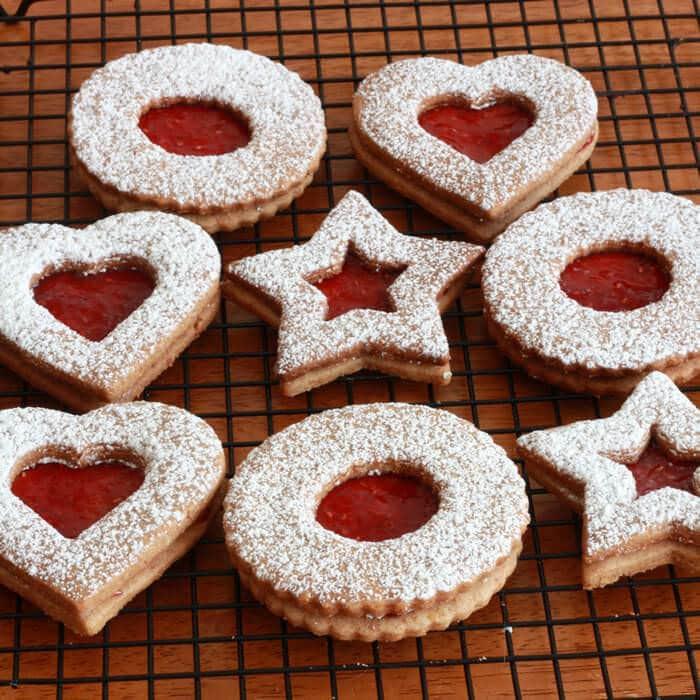 Austrian Christmas Cookies  Linzer Kekse Linzer Cookies The Daring Gourmet