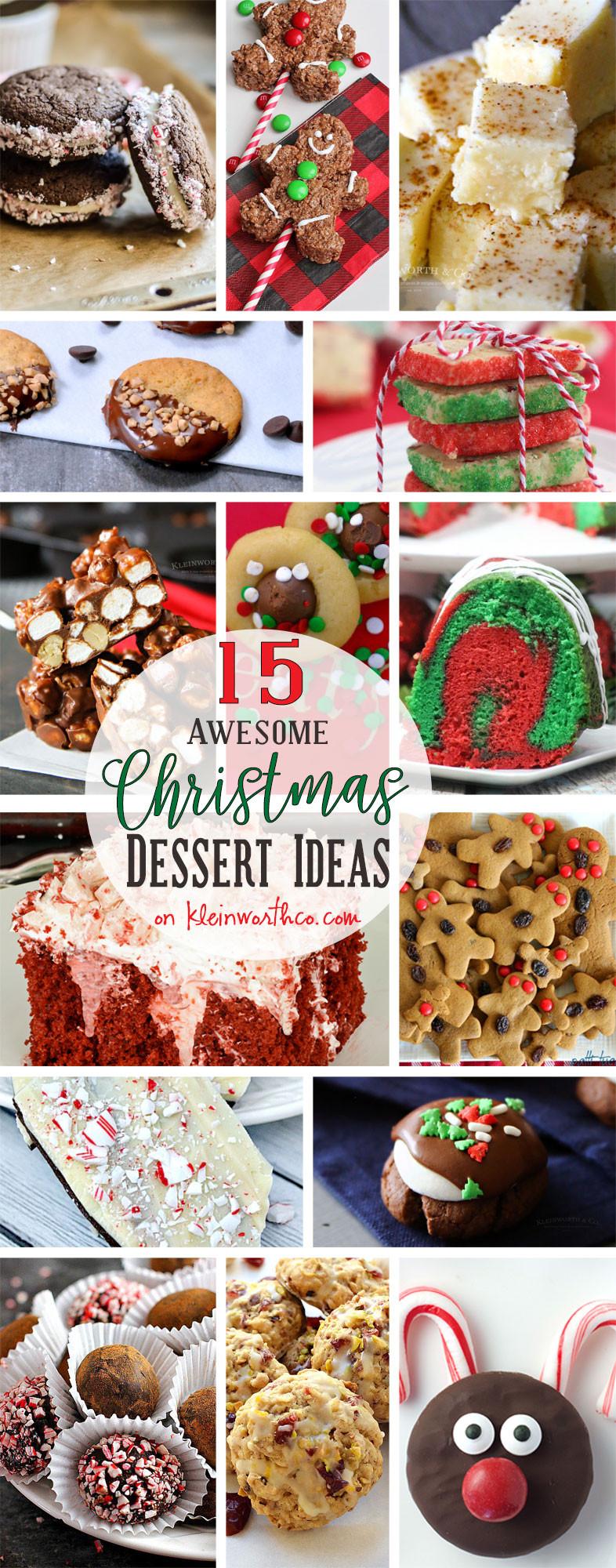 Awesome Christmas Desserts  15 AWESOME Christmas Dessert Ideas