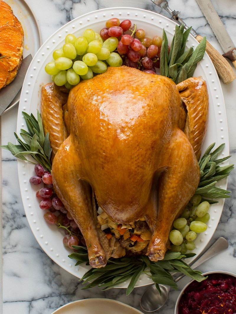 Bake Turkey Recipe For Thanksgiving  Citrus and Herb Roasted Turkey Thanksgiving