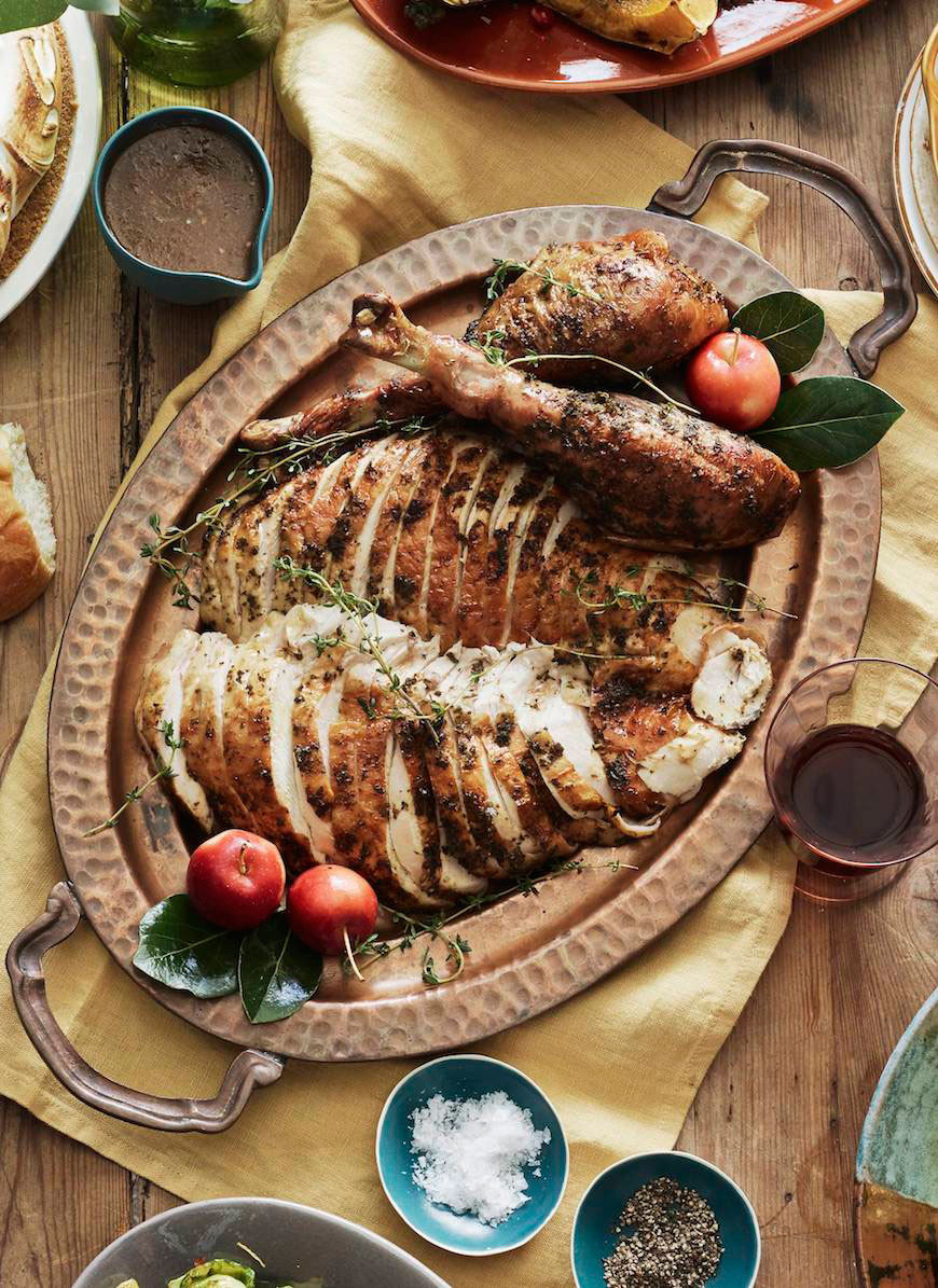 Baked Turkey Recipes For Thanksgiving  Herb Roasted Turkey What s Gaby Cooking