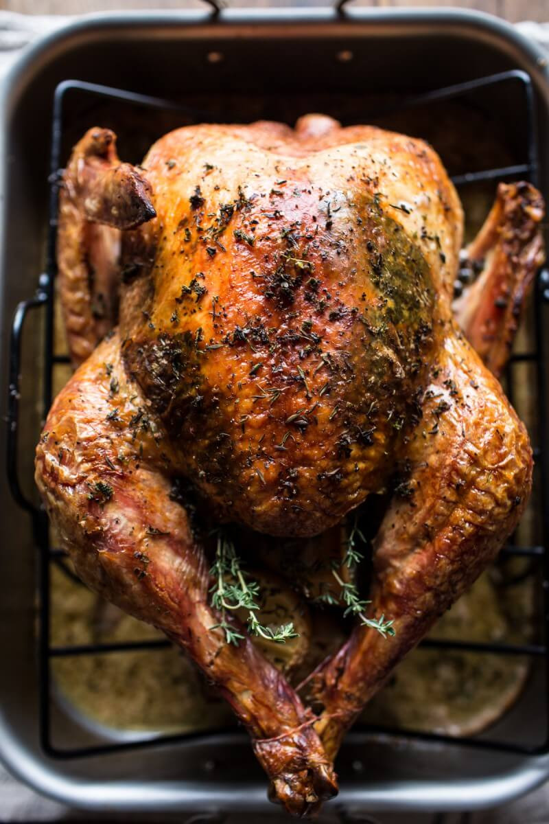 Baked Turkey Recipes For Thanksgiving  Herb and Butter Roasted Turkey