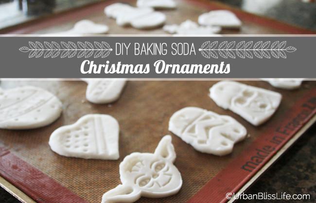 Baking Christmas Ornaments  [DIY Bliss] Baking Soda Christmas Ornaments Urban Bliss Life