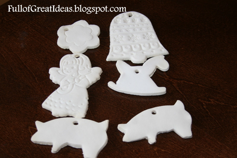 Baking Christmas Ornaments  Full of Great Ideas Christmas in September Corn starch