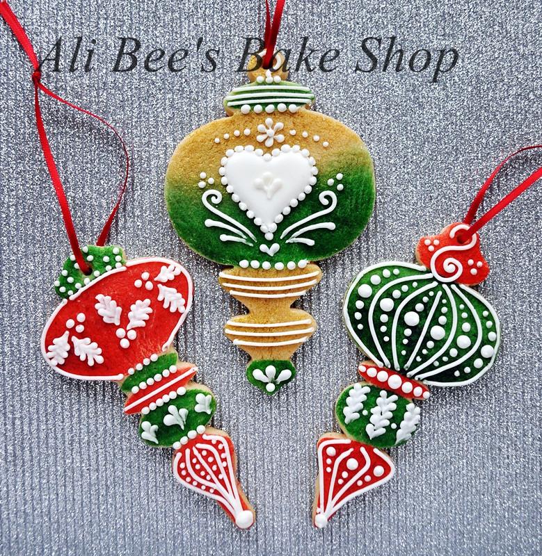 Baking Christmas Ornaments  Ali Bee s Bake Shop Tutorial Edible OR Storable