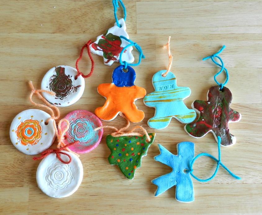 Baking Christmas Ornaments  Homemade Cornstarch Dough Ornaments