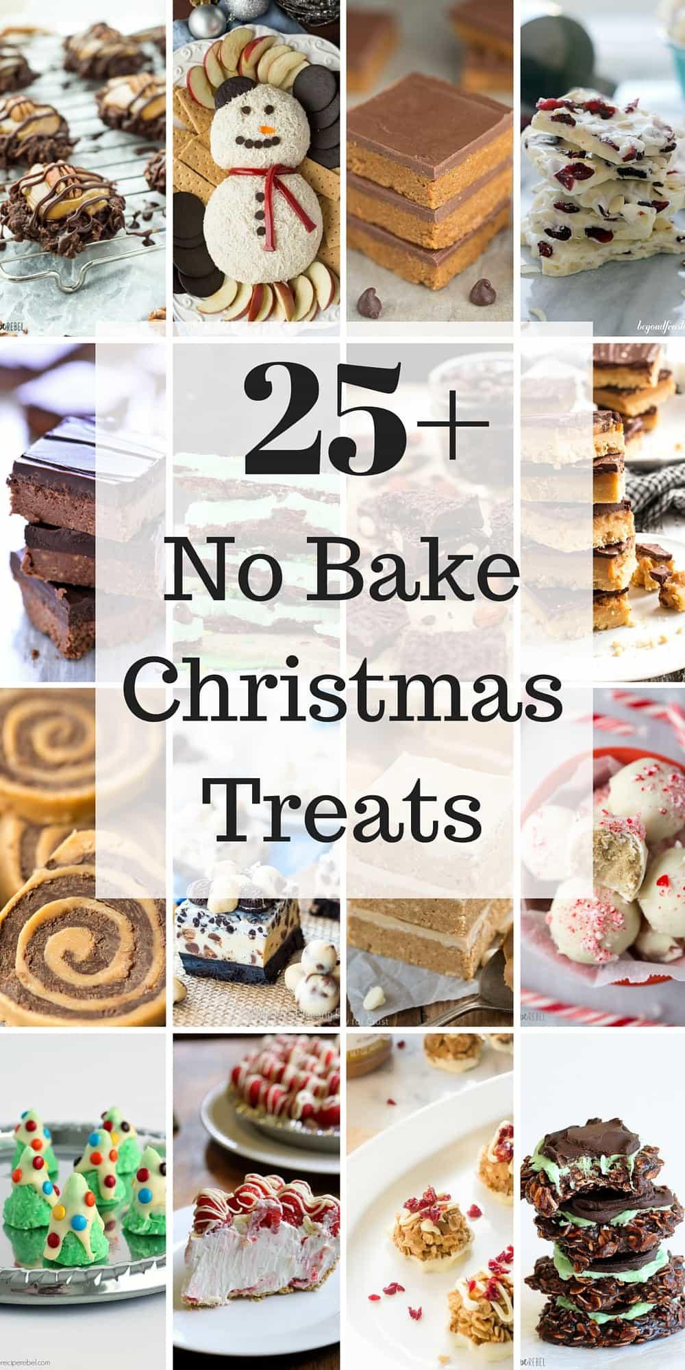 Baking For Christmas  25 No Bake Christmas Treats Easy Christmas cookies