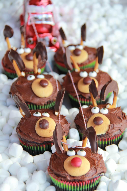 Baking For Christmas  Chocolate Reindeer Cupcakes Half Baked Harvest