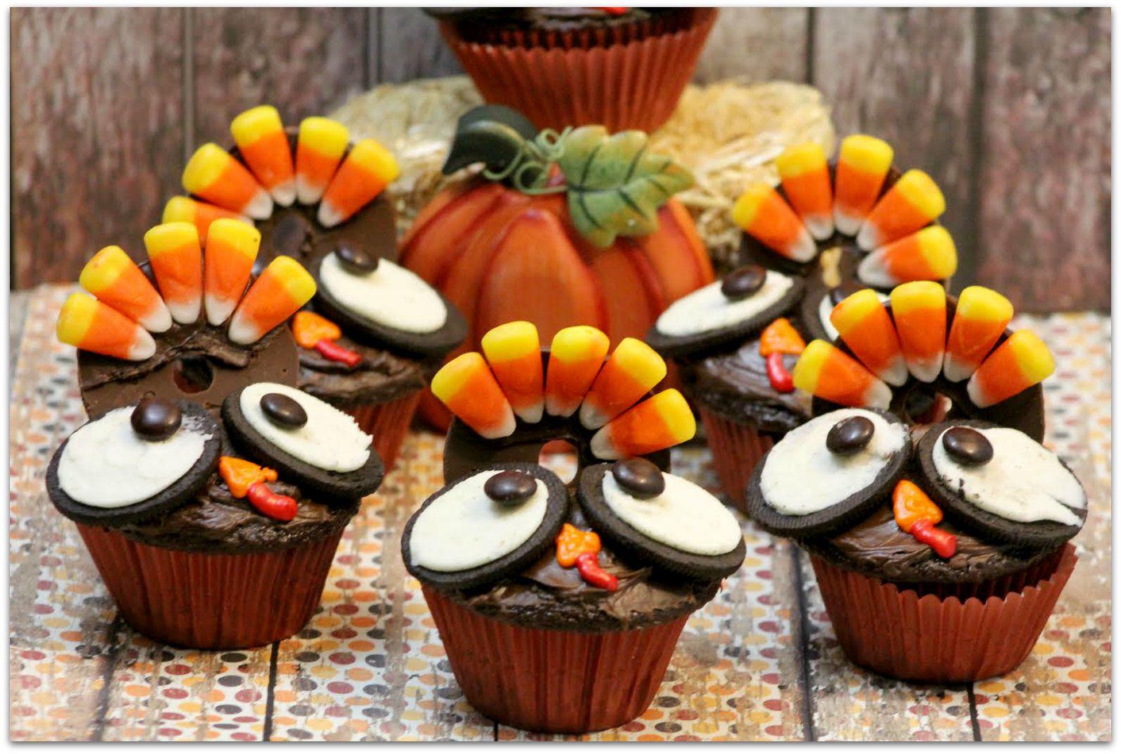 Baking Thanksgiving Turkey  Thanksgiving Turkey Cupcakes Food Fun & Faraway Places
