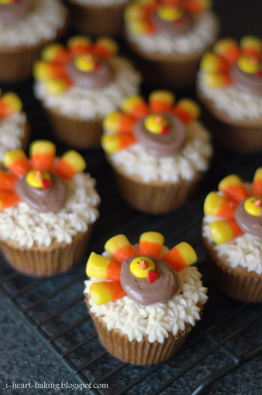 Baking Thanksgiving Turkey  i heart baking thanksgiving turkey cupcakes brown