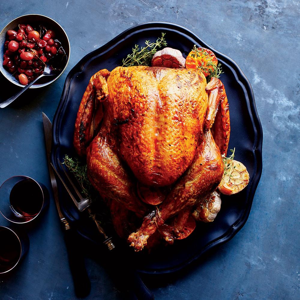 Baking Thanksgiving Turkey  Clementine and Garlic Roast Turkey Recipe Justin Chapple