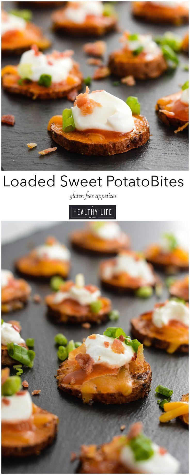 Best Appetizers For Thanksgiving  Loaded Sweet Potato Bites Recipe