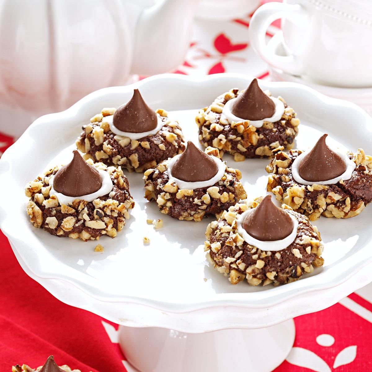 Best Chocolate Christmas Cookies  Chocolate Thumbprints Cookies Recipe
