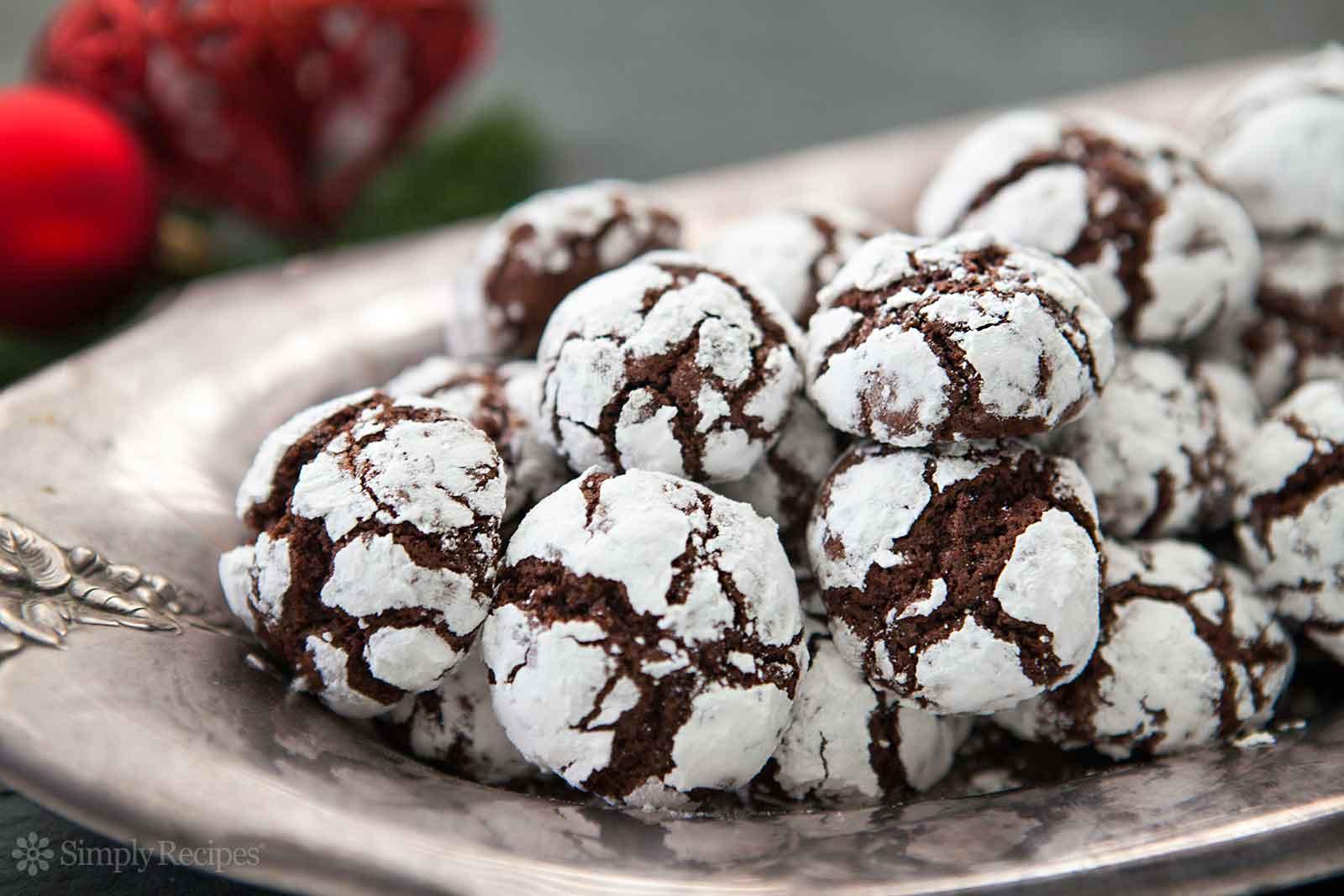 Best Chocolate Christmas Cookies  Chocolate Crinkles Recipe