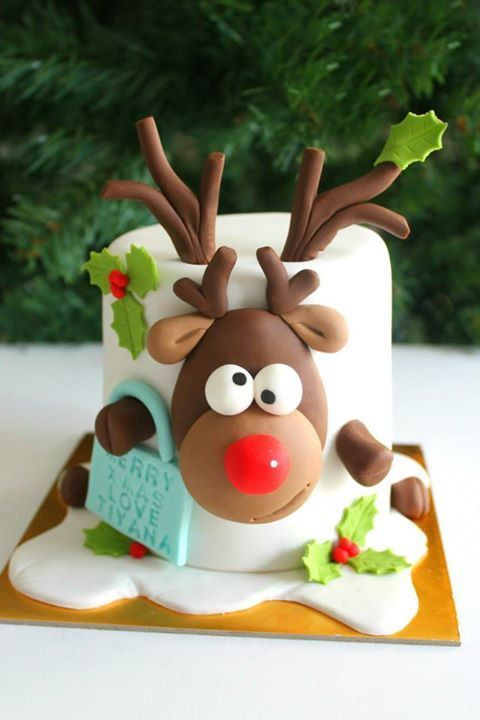 Best Christmas Cakes 2019  Reindeer Cake by Little Wish Cakes Perth Western Australia