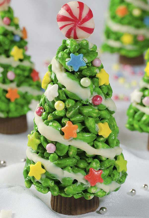 Best Christmas Desserts 2019  Christmas Tree Krispie Treats