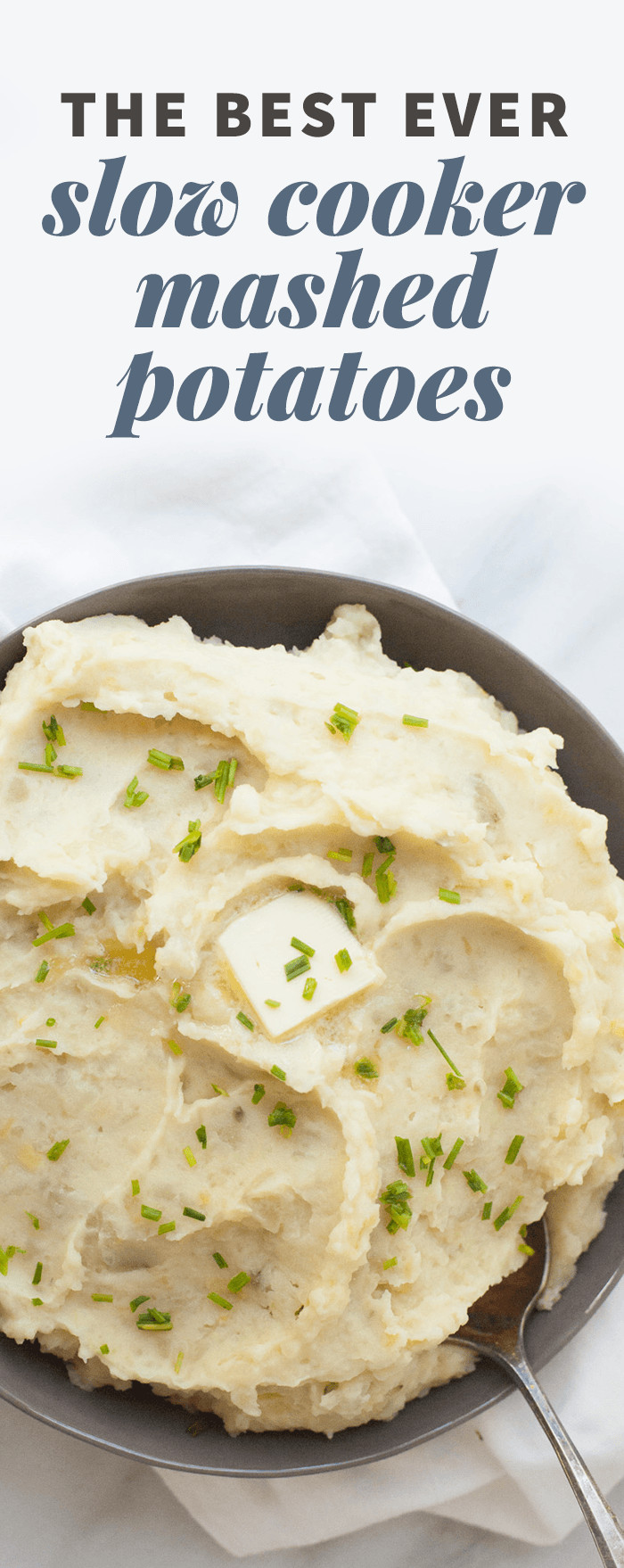 Best Thanksgiving Mashed Potatoes  The Best Ever Slow Cooker Mashed Potatoes Wholefully