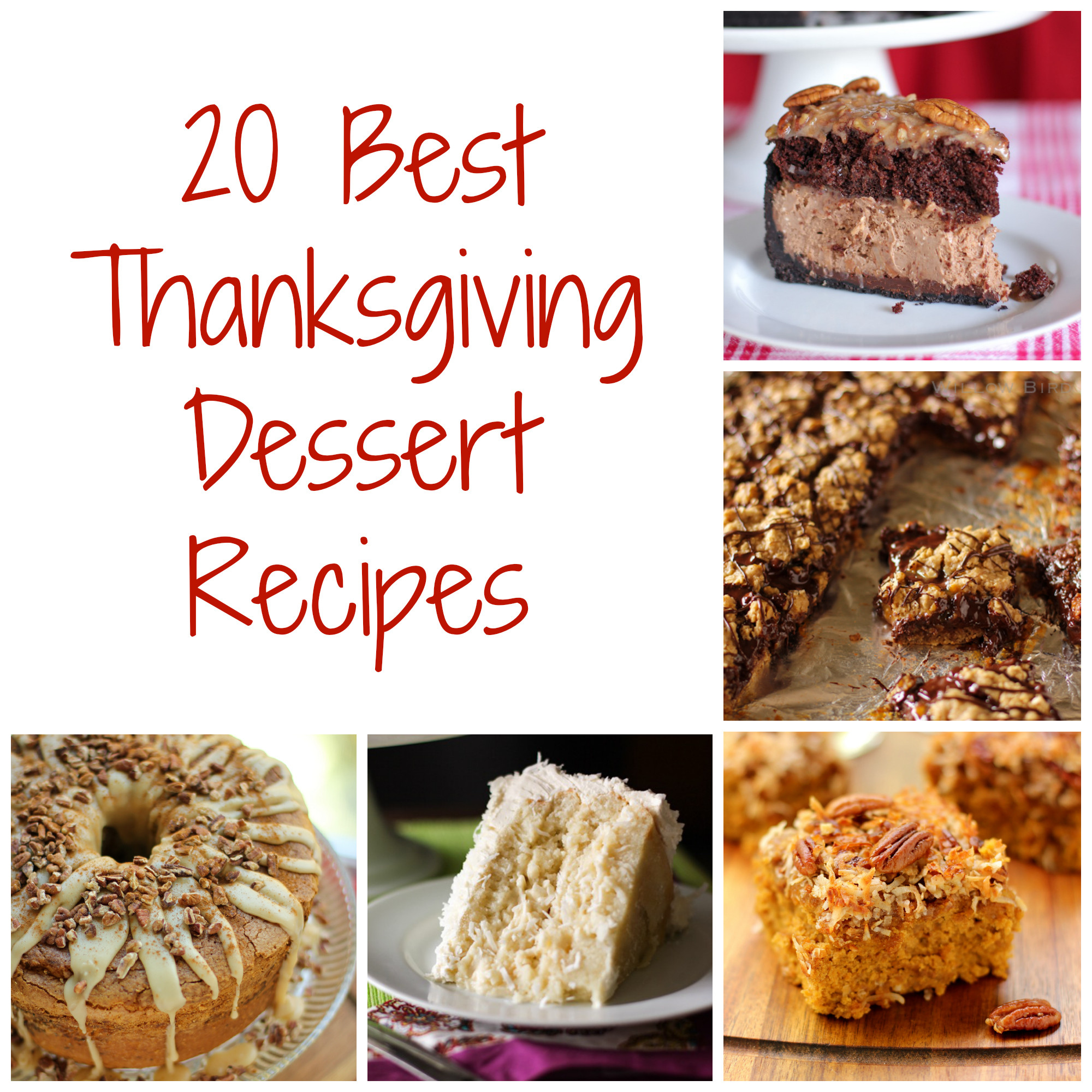 Best Thanksgiving Pie Recipes  Thanksgiving Dessert Recipes Willow Bird Baking