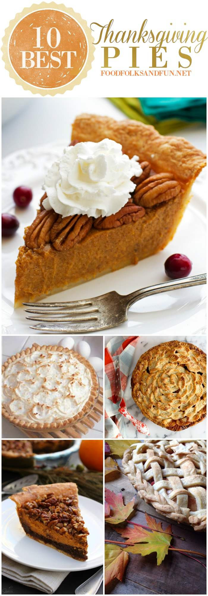 Best Thanksgiving Pies Recipes  10 Best Thanksgiving Pie Recipes • Food Folks and Fun