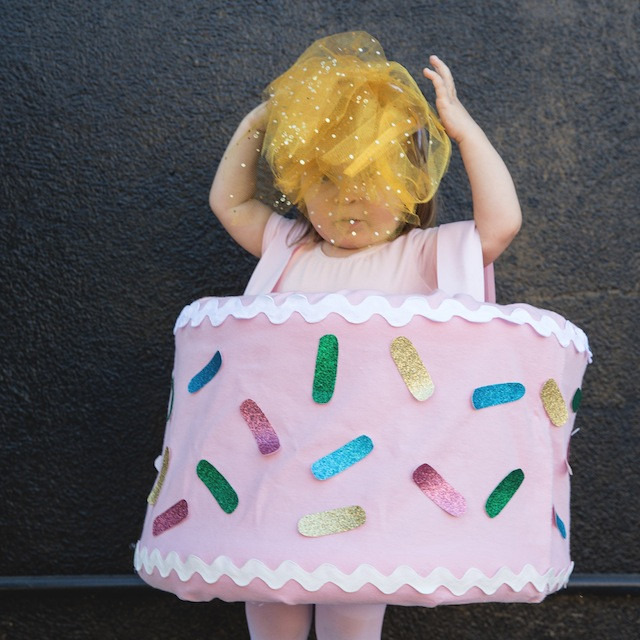 Birthday Cake Halloween Costume  DIY Halloween Costume Birthday Cake The Effortless Chic