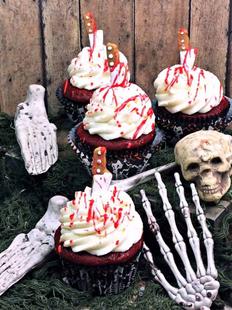 Bloody Halloween Cupcakes  Bloody Cupcakes Perfect for Halloween Walking Dead or
