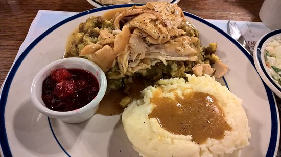 Bob Evans Thanksgiving Dinner  Turkey dinner Picture of Bob Evans Breezewood TripAdvisor