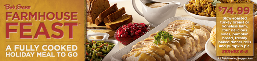 Bob Evans Thanksgiving Dinners  Bob Evans Farmhouse Feast Fully Cooked Meal To Go