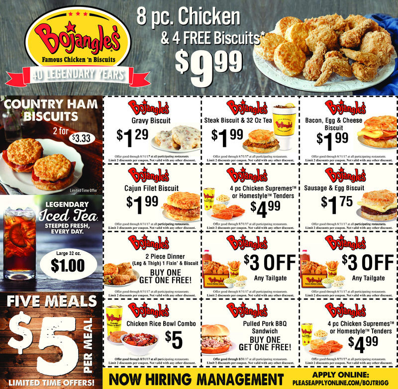 Bojangles Turkey For Thanksgiving 2019  Bojangle coupons Strobes n more coupon